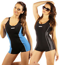 Ladies Swimsuit Swimwear Costume With Shorts Size 8-16 High Quality Made In EU