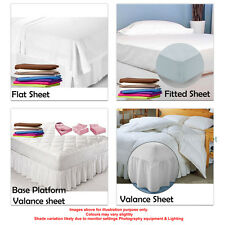 Double Size Bed sheets in a variety of Pastel colours Fitted Valance Base Flat