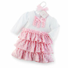 NWT Mudpie Baby Girl Princess Minky Dress  0-6 12-18 Mo