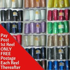 5000m Polyester Overlocker & Sewing Machine Thread Choice of Colours Top Quality