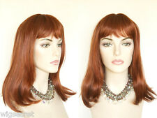 Mid Length Straight Cleopatra Style Wig with Bangs Striking and Chic