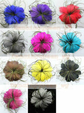 4pcs feather flower color&quantity optional for adorn&brooch