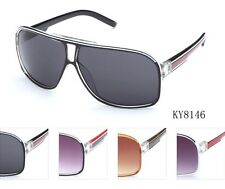 Unisex Retro Turbo Aviator Designer Sunglasses New Black Red White KY8146 multi