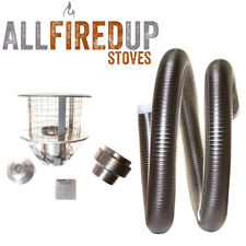 "Multifuel Flexible Flue Liner Installation Kit 6 Wood Burning Stove 5"" To 6"""