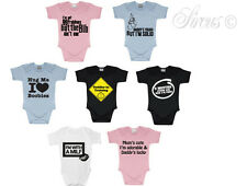 FUNNY CUTE BABY GROW VESTS BOYS & GIRLS! BIRTHDAY & CHRISTENING  GIFT MATERNITY