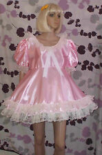 Unisex short adult baby dress ,Fancy dress/sissy/wide lace 2 row on skirt