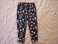 NWT Girl's Gymboree Pretty Pea blue flower pants ~ 6 12 18 months