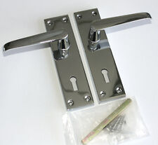 CONTRACT DOOR HANDLES - Victorian Straight Lock -Chrome -30, 15 & 5prs available