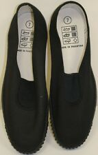 Adults Black Plimsolls Various Sizes Unisex New