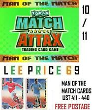 MATCH ATTAX 10/11 CHOOSE ANY MAN OF THE MATCH CARDS ( LIST 411 - 440 )