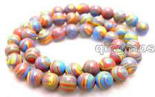 "Charming! Small 8mm Red peacock zebra stripe Round agate beads strands 15"" -l484"