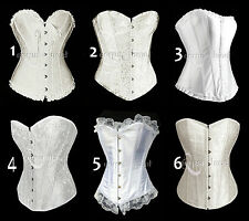 CORSET BUSTIER SERRE-TAILLE TOP MARIAGE BLANC IVOIRE SOIRÉE GLAMOUR SEXY NEUF