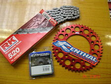 RK Chain And Red Renthal Sprocket Kit CR CRF 125/250/450/500 88-13 R X Motocross