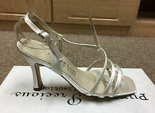 Ivory satin bridal bridesmaid shoes sizes 3-7.5 by Pure and Precious CLARKE
