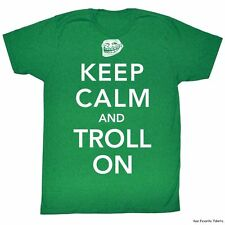 Licensed You Mad? Troll Face meme Keep Calm And Troll On Adult Shirt S-2XL