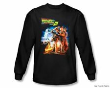 Officially Licensed Back To The Future III Poster Long Sleeve Shirt S-2XL