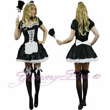 French Maid Fancy Dress Costume Ladies Plus Size 6 - 24 Outfit Hen Party Naughty
