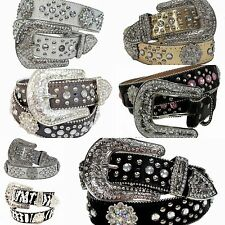 Western Rhinestone Atlas Berry Round Belt Studed Cowgirl Bling Concho 50128