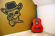 Scary deadly fun Skull With Gun laptop car wall vinyl decal durable best seller