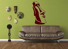 Moai of Easter Island Statue - Large Wall Sticker & Wall Decal. Many colours.New
