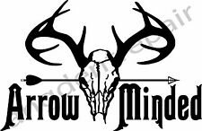 Arrow Minded Vinyl Decal Sticker hunting fishing