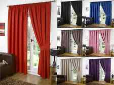SUPERSOFT BLACKOUT THERMAL CURTAINS IN PENCIL PLEAT + FREE TIE BACKS