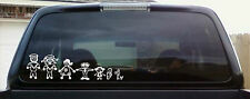 Stick Family Decal Stickers For Your Car Window  Stick People