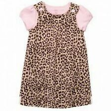 New Carter's Cheetah Animal Print Jumper Dress & Top Set NWT 18m 24m 2T 3T 4T