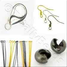 Jewellery Findings - Earwire, Headpin, Crimps, Clasps in Silver, Gold & Black
