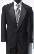 Mens Black One Button Notch Tuxedo Package Prom Wedding Discount Bargain 46R