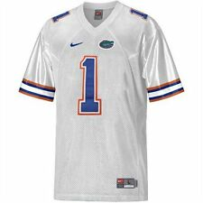 NEW Youth Boys L XL NIKE University Florida Gators Sewn #1 White Football Jersey