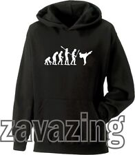 EVOLUTION OF MAN KARATE UNISEX KIDS HOODIE JUDO MARTIAL ARTS KARATE KID KUNG FU