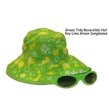 Baby Banz Combo set  Green Tide reversible hat and Lime Green Sunglasses