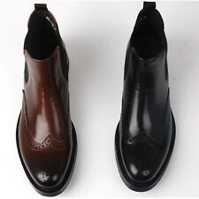 Fulinken Italian Leather Brogue Wingtip Mens Formal Dress shoes Boots Business