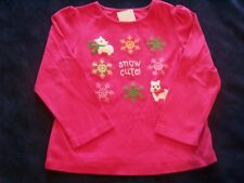 NWT Girl's Gymboree Cheery All Way dog long sleeve shirt 18-24 months 2T 3T
