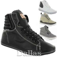 MENS HIGH HI TOPS TRAINERS BOYS CASUAL LACE UP ANKLE CANVAS RETRO SHOES SIZE