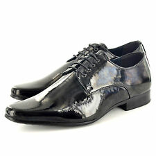 New Mens Black Patent Lace Up  Formal / Wedding /Suit Shoes Available  UK 7-11
