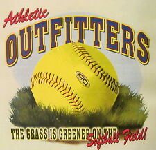 ALL AMERICAN OUTFITTERS GRASS IS GREENER ON THE SOFTBALL FIELD SHIRT #247