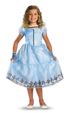 DISNEY ALICE IN WONDERLAND MOVIE DELUXE CHILD COSTUME Blue Theme Party Halloween
