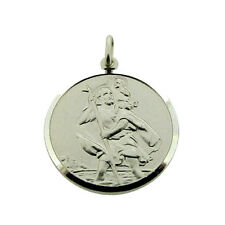 Sterling Silver 20mm St Christopher Pendant Necklace Chain & Engraving Options