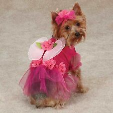 Dog Halloween Party Event Dress Pink Flower Fairy Dog Costume