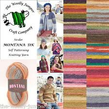 SIRDAR MONTANA DK SELF PATTERNING KNITTING YARN WOOL - Various Shade Options