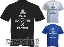 KEEP CALM AND WATCH THE X FACTOR MAN T-SHIRT TULISA JLS TV SINGING LITTLE MIX