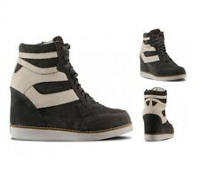 JEFFREY CAMPBELL HIGH-TOP NAPOLES GREY WHITE SNEAKERS SHOES  ANKLE WEDGE BOOTS