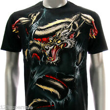 a60b M L XL XXL Artful T-shirt Tattoo Skull Japanese Heaven Dragon Skate Funky