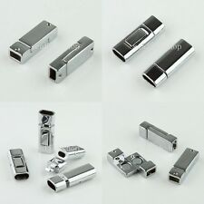 Wholesale Platinum /P Rectangle Connector Findings Clasps For Leather Bracelet
