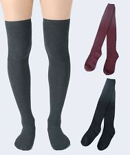 NewTHIGH HIGH SOCKS Over Knee Girls Womens Warm Cotton Slouch Cable Knit Sweater