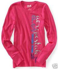 girls PS Aeropostale  Long Sleeve Vertical Shine Graphic shirt everyday cotton