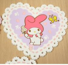 1X Cute Melody Love Heart Shape lace Insulation Cup Pad Mat Coaster