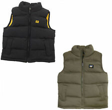 Boys Bodywarmer Black Olive Caterpillar Puffa Warm Cat Zip Kids Girls Infant New